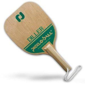 Pickleball Diller Paddle - Sports Pickle Ball Equipment by Pickle-ball® Inc.. $26.72. DILLER PADDLE...7-ply hardwood paddle with rope & safety strap.