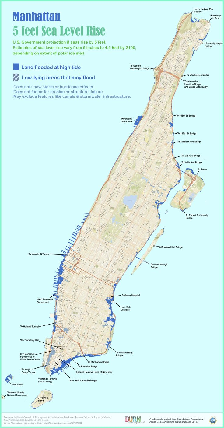 map: the future of flooding in manhattan | sea level rise