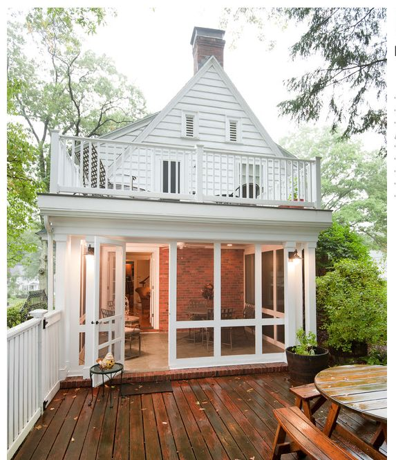 1st Floor Sunroom To Deck Over Walkout Basement: 96 Best 2nd Floor Porch Images On Pinterest