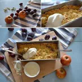Apfel-Pflaumen Crumble: einfacher und leckerer kann man ein Rezept glaub ich gar nicht machen.