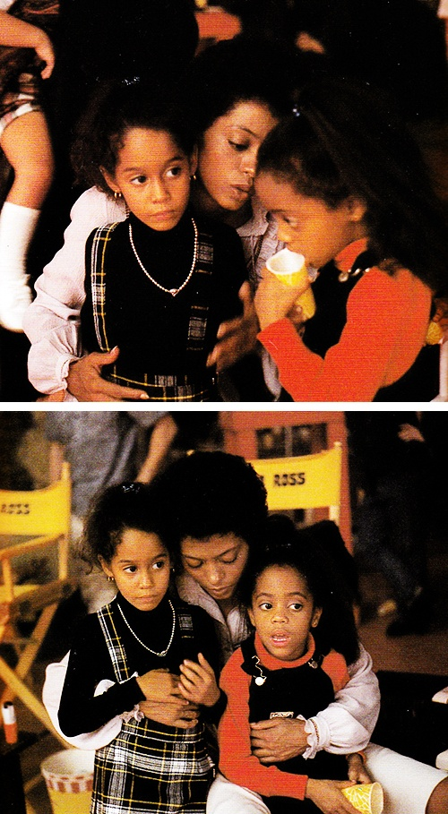 Diana Ross with daughters Tracee & Rhonda on the set of The Wiz (1978)