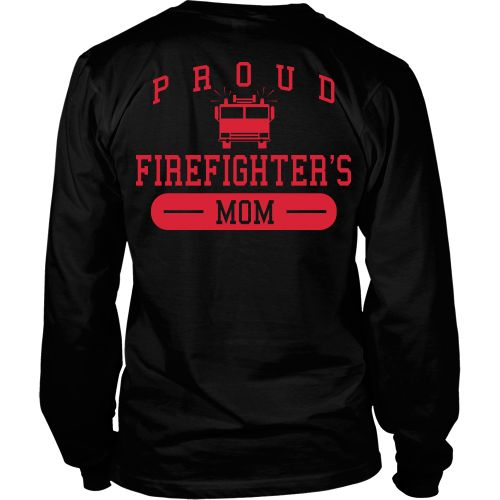 Proud firefighters Mom - Back Design