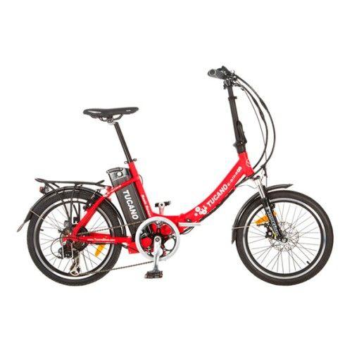 Bicicleta eléctrica dobrável Tucano Basic Renan vermelho | deporvillage