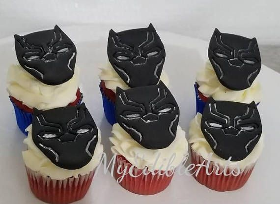 New Black Panther Cupcake Rings Marvel Heroes One Dozen