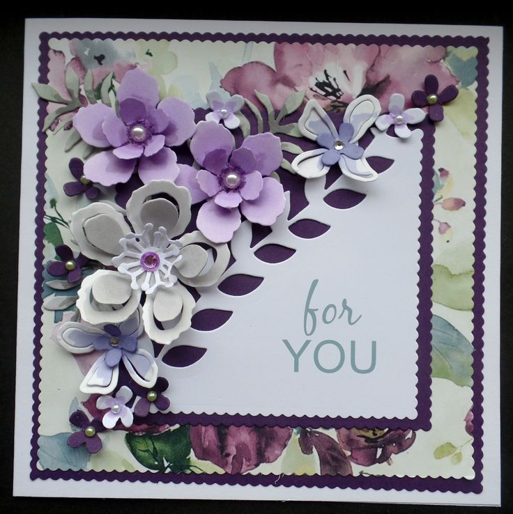 Card Making Ideas Using Dies Part - 38: Hand Made Birthday Card Using Stampin Up Botanical Blooms Dies