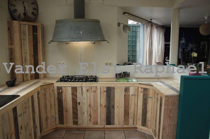 Muebles de cocina hechos con palets