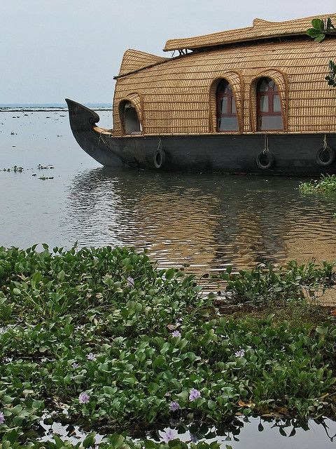 Houseboat on The Backwaters, Kumarakom, Kerala, India