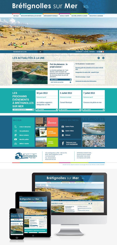 #Webdesign #Responsive #Mairie #Ville #Colterr : le nouveau site web de la ville de Bretignolles sur Mer (85) www.bretignolles-sur-mer.fr