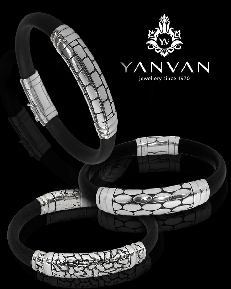 A perfect combination black genuine rubber & 925 sterling silver...    kayan@indo.net.id