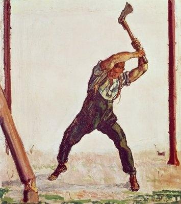Ferdinand Hodler Axe Wonderful Weight of movement