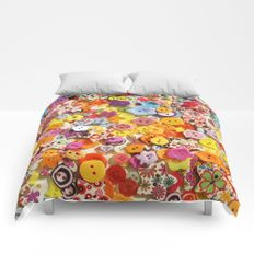 Buttons 3 Comforters by I Love the Quirky