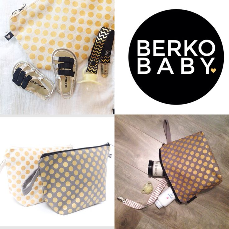 organic cotton baby bag! Because who doesn't like gold polka dots!! $15 CAD visit www.berkobaby.com