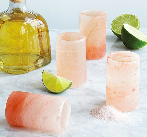 A set of Himalayan pink salt shot glasses that make tequila shots one step easier. | 23 Gifts For Your Saltiest Friend