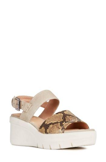 1b32e1b079b86 Geox Torrence Wedge Sandal (Women) in 2019   The Top Sandals Trends   Wedge  sandals, Sandals, Wedges