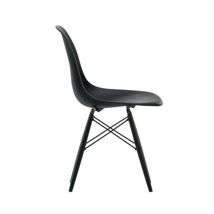 Eames DSW Chaise Pieds Noirs par VITRA - Voltex - 384€