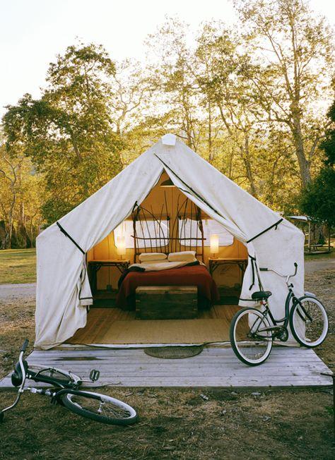 backyard tent bedroom.