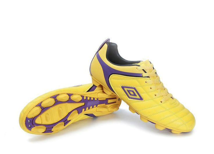 Umbro Cup AG Football Boots Yellow Purple