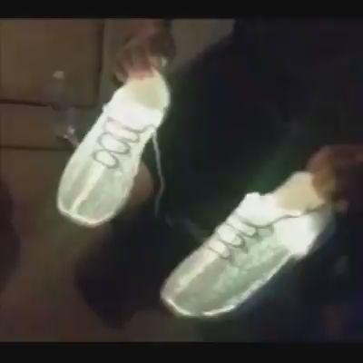 Fashion Luminous Fiber Optic Shoes