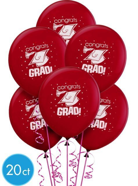 Berry Graduation Balloons 12in 20ct – Party City