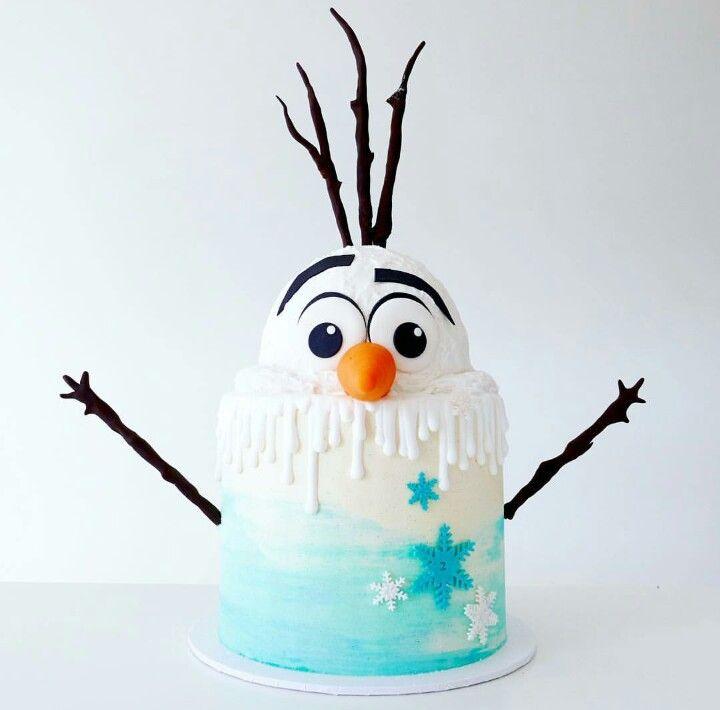 Olaf (Frozen movie) cake                                                       …