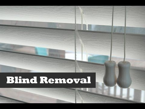 How To Remove & Install Vinyl Blinds. Blind installation. - YouTube