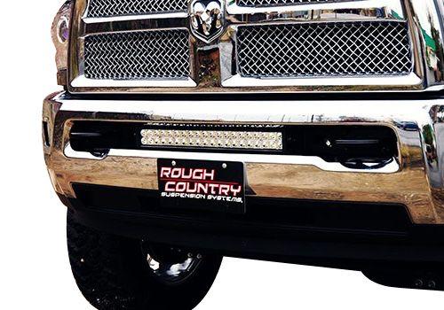 Dodge Ram Accessory - Rough Country Dodge Ram 20 Light Bar Hidden Bumper Mounts