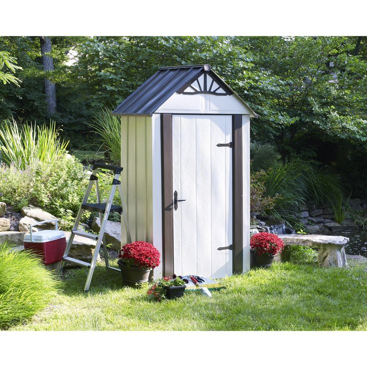 Arrow 4' x 2' Designer Metro Metal Storage Shed