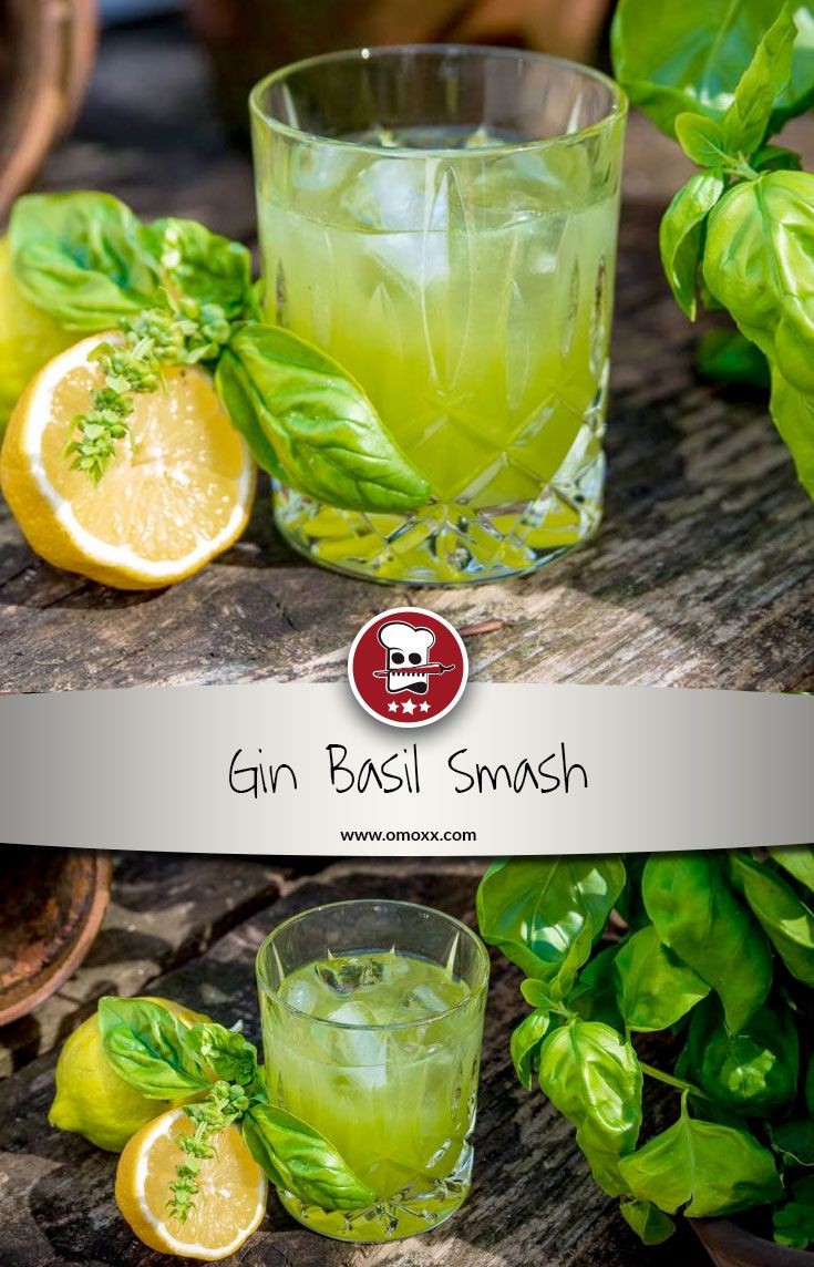Gin Basil Smash - Gin Cocktail with basil