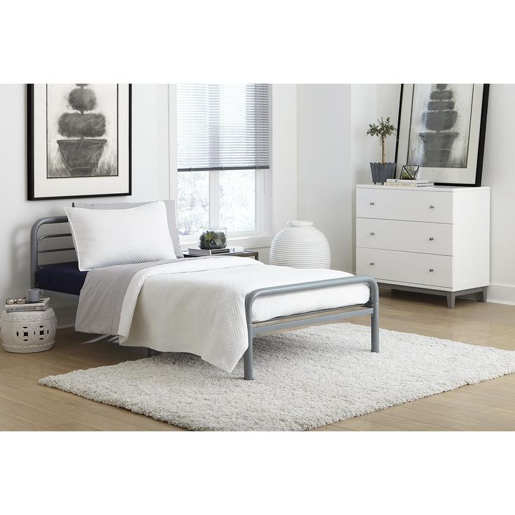 DHP Metal Twin Bed  Twin bed  silver. Best 25  Metal twin bed frame ideas on Pinterest   Industrial beds