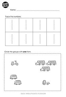 Preschool Number Worksheets - Sequencing to 10