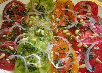 Receta de Carpaccio de tomates multicolor