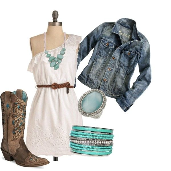 Country ♥: Country Styles, Jeans Jackets, Cute Dresses, Country Girls, Cute Boots, Country Concerts, Cowboys Boots, Country Strong, The Dresses