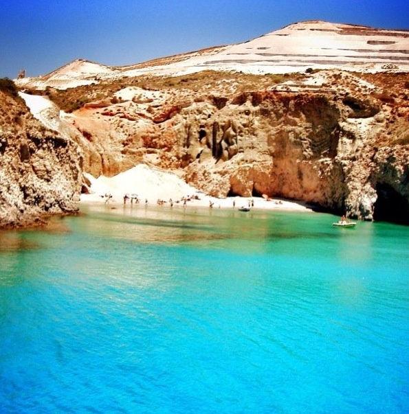 Tsigrado Beach, Milos Island in Greece