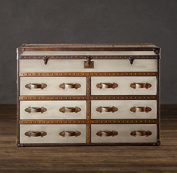 restoration hardware: Chest Brushed, Restoration Hardware, Dresser, Mayfair Steamer, Steamer Double, Double Chest, Steamer Trunk