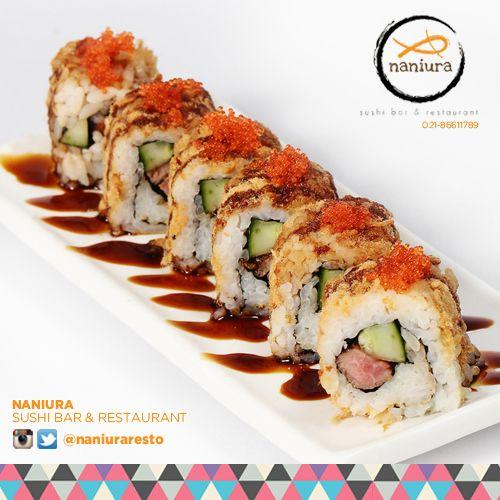 #NikuRoll    Naniura Sushibar  Restaurant Jln. Tarum Barat Kav. Agraria no. 6 Blok E/5 Kalimalang, Jakarta Timur 021-86611789    Tag ur reviews #NaniuraSushi.