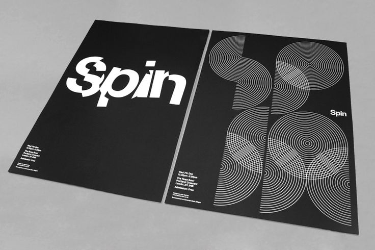 Spin x2  Two talks, two posters. Double-sided poster for talks by London-based studio Spin: Poster Design Inspiration, Studios Spinning, White Poster, John Barton, Graphicdesign, Graphics Design, Poster Quadro-Negro, Poster Designs, Spinning Poster