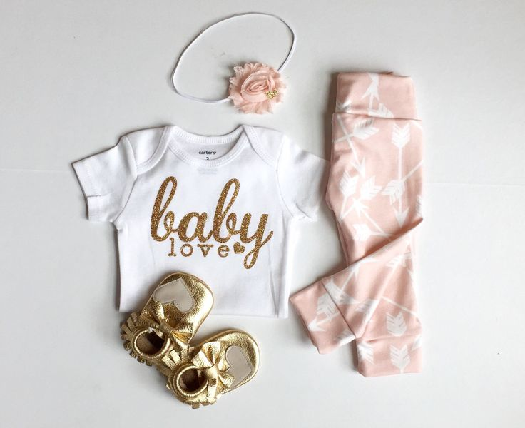 Bringing home baby outfit | newborn baby girl | take home outfit | baby shower gift | baby girl bodysuit | baby leggings | organic