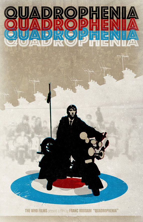 The Who | Quadrophenia | Retro Movie Poster Pastiche by DadManCult