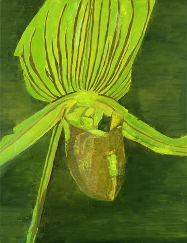 Orchid  Artist: Luc Tuymans Place of Creation: Belgium Style: New European Painting Genre: flower painting Gallery: Zeno X Gallery, Antwerpen, Belgium