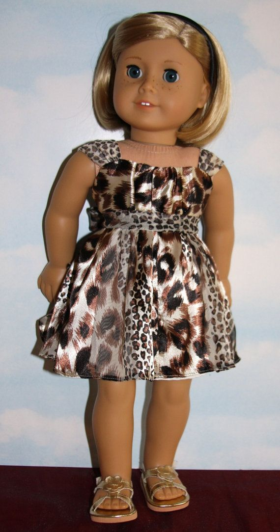 18 American Girl Doll Animal Print Party Dress by SewLikeBetty. Made with the Aspen Party Dress pattern, found at http://www.pixiefaire.com/products/aspen-party-dress-18-doll-clothes.  #pixiefaire #libertyjane #aspenpartydress