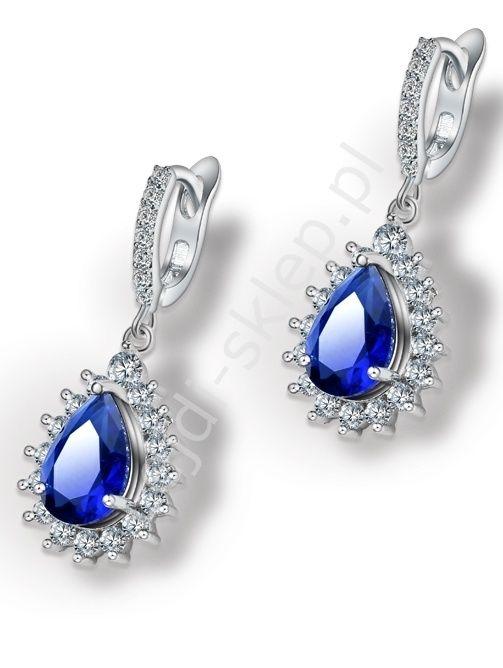 Earrings plated 24k white gold. Chabrowe kolczyki pozłacane białym zlotem www.lejdi.pl