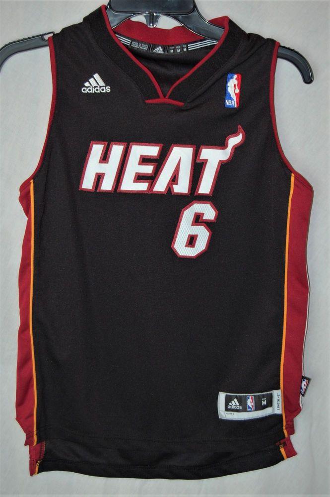 the best attitude 1b17b d0b24 Lebron James Adidas Jersey NBA Miami Heat #6 Size Medium + 2 ...