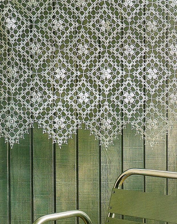Gorgeous LaceCrochet Curtain: FREE diagram/chart