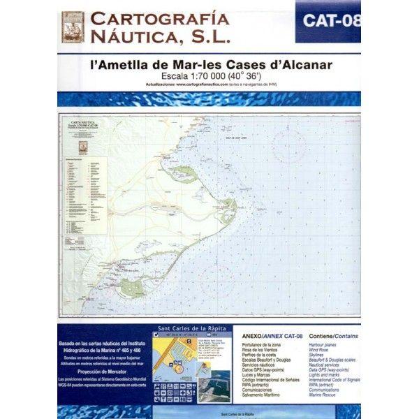 L'Ametlla de Mar-les Cases d'Alcanar [Document cartogràfic].  Figueres : Cartografía Náutica, 2007