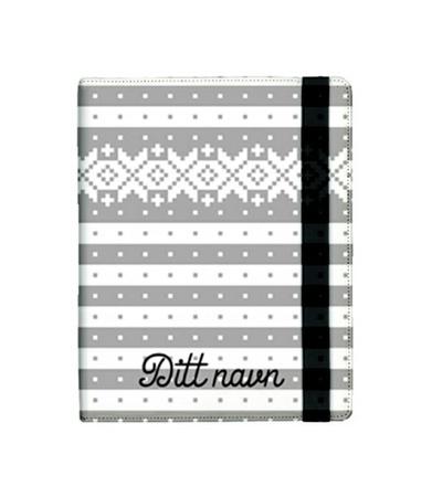 "iPad-mappa ""Fana"". Folder for iPad Norwegian knitting pattern"