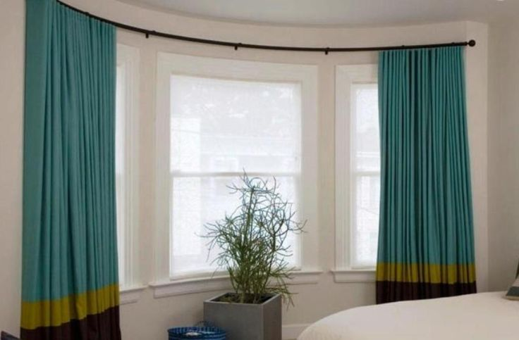 1000 ideas about curved curtain rod on pinterest for Curved bay window