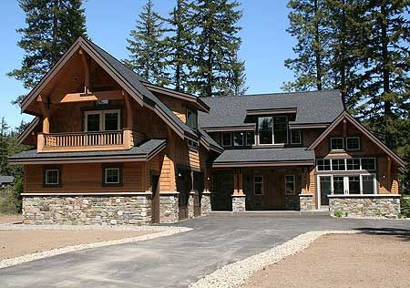 Rustic mountain home plan for Mountain craftsman home