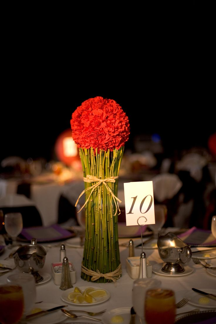 asian centerpiece | Wedding flowers | Pinterest | Decor ...