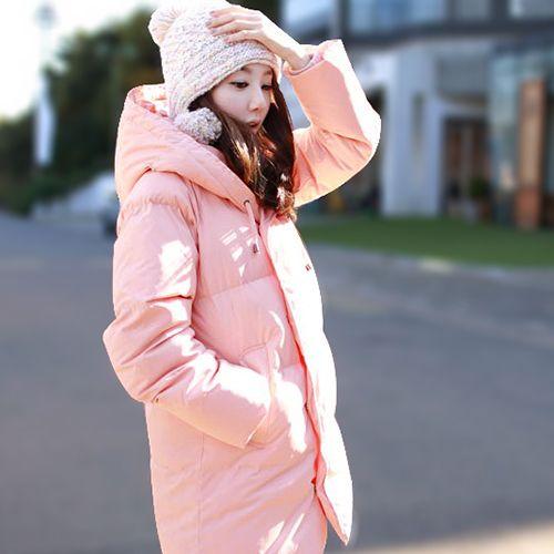 Куртка, черный / розовый / абрикос корейский зима женщины утолщение тёплый без тары свободного покроя пуховик хлопок мягкий ватные S-XXL D2100