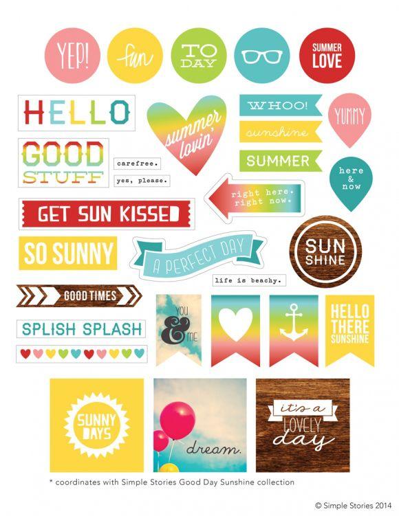 Simple Stories Good Day Sunshine Freebie